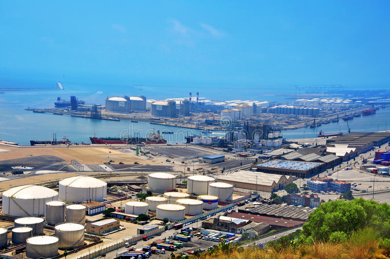 巴塞罗那,西班牙港  免版税库存图片