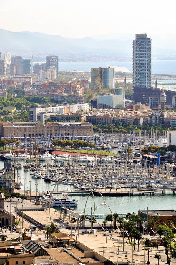 巴塞罗那从上面 库存图片