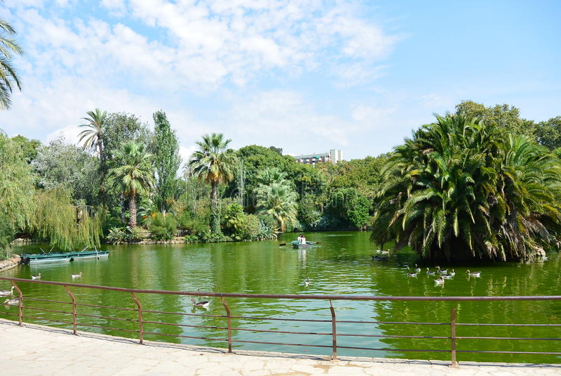 巴塞罗那ciutadella de la parc 库存照片