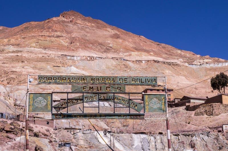 塞罗里科矿在波托西,玻利维亚 免版税库存图片