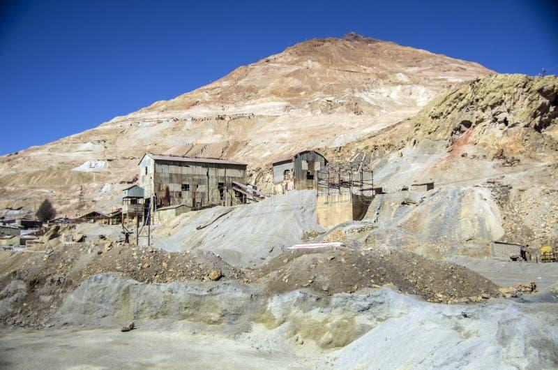 塞罗里科采矿,波托西,玻利维亚 库存照片
