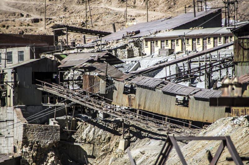 塞罗里科采矿,波托西,玻利维亚 免版税图库摄影