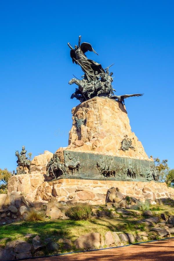 塞罗de la格洛里亚纪念碑,在Mendoza 免版税图库摄影
