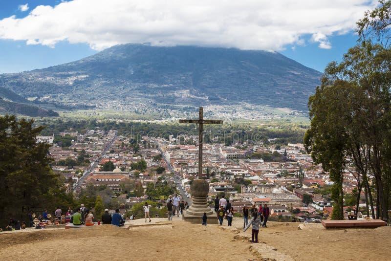 塞罗de la Cruz,安提瓜岛,危地马拉 库存图片