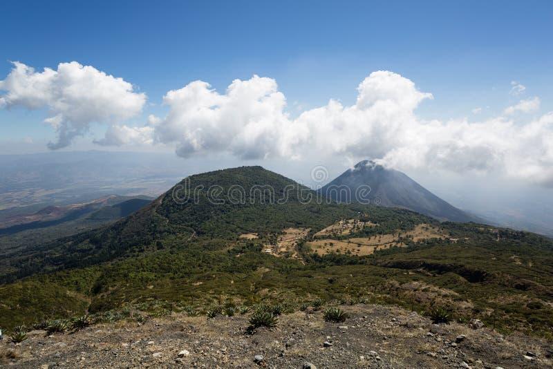 塞罗Verde和伊萨克火山火山 免版税库存照片