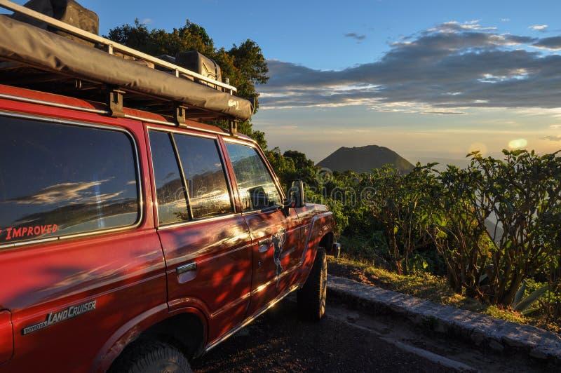 从塞罗Verde国家公园,萨尔瓦多的伊萨克火山火山 库存照片