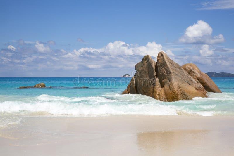 塞舌尔海滩 免版税图库摄影