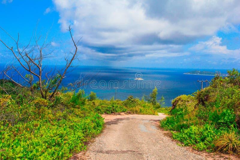 塞舌尔群岛普拉兰岛海岛津巴布韦观点 免版税库存图片