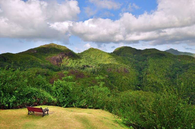 塞舌尔群岛海岛风景 免版税图库摄影