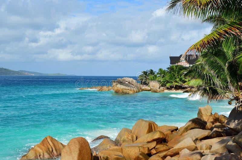 塞舌尔群岛海岛,拉迪格岛 免版税库存图片