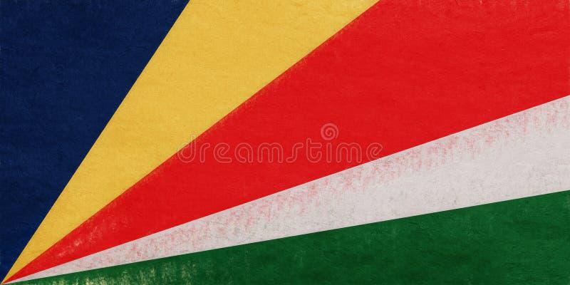 塞舌尔群岛难看的东西旗子  库存例证
