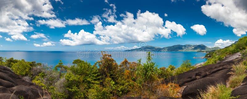 塞舌尔群岛, Mahe海岛 免版税图库摄影