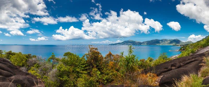 塞舌尔群岛, Mahe海岛 图库摄影
