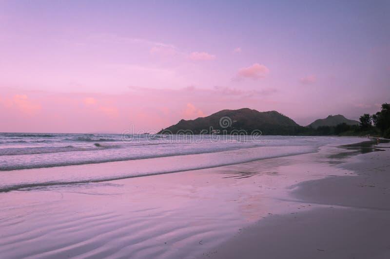 塞舌尔群岛 美丽的Anse Volbert海滩 库存图片