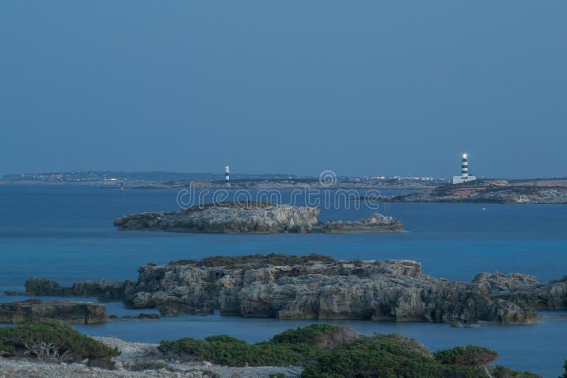 塞萨利内斯,伊维萨岛, Islas巴利阿, España 库存图片