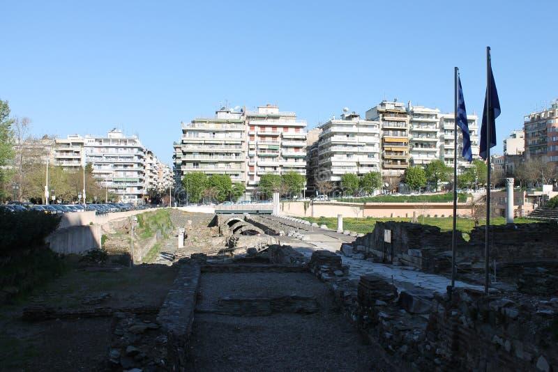 塞萨罗尼基市在希腊塞萨罗尼基 库存照片