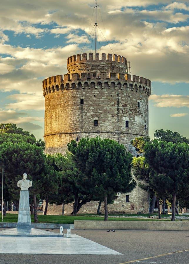 塞萨罗尼基市白色塔  免版税库存照片