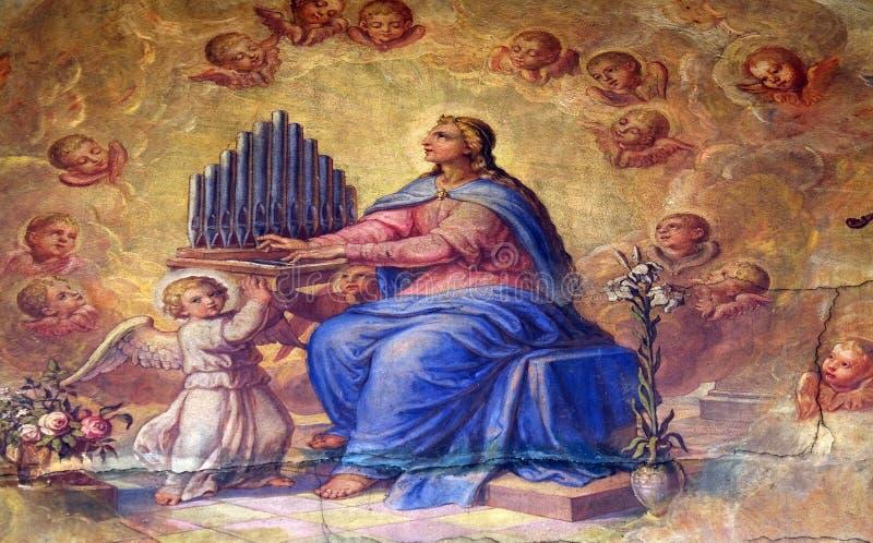 塞西莉亚圣徒 免版税库存图片