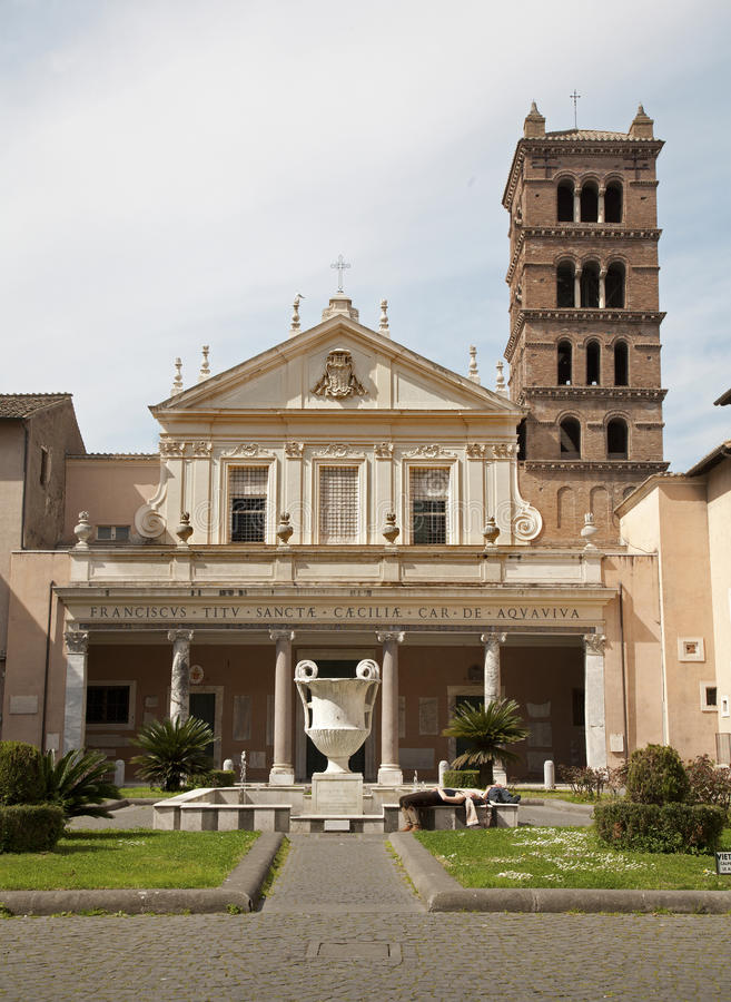 塞西莉亚教会罗马圣诞老人 图库摄影