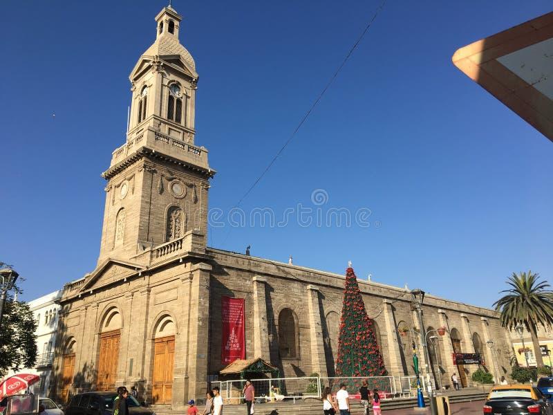 塞雷纳智利的圣诞节中心 库存照片