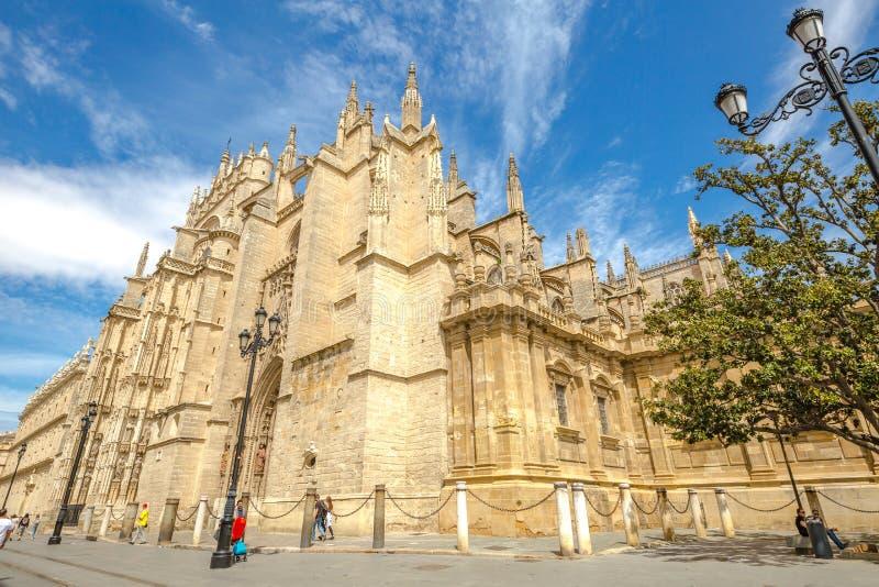 塞维利亚大教堂西班牙 免版税库存照片