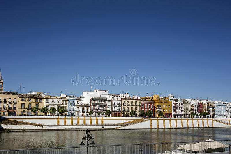 塞维利亚的街道和角落 安大路西亚 西班牙 免版税图库摄影