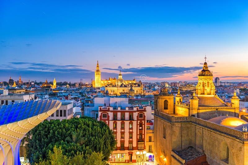 塞维利亚,西班牙地平线 免版税图库摄影