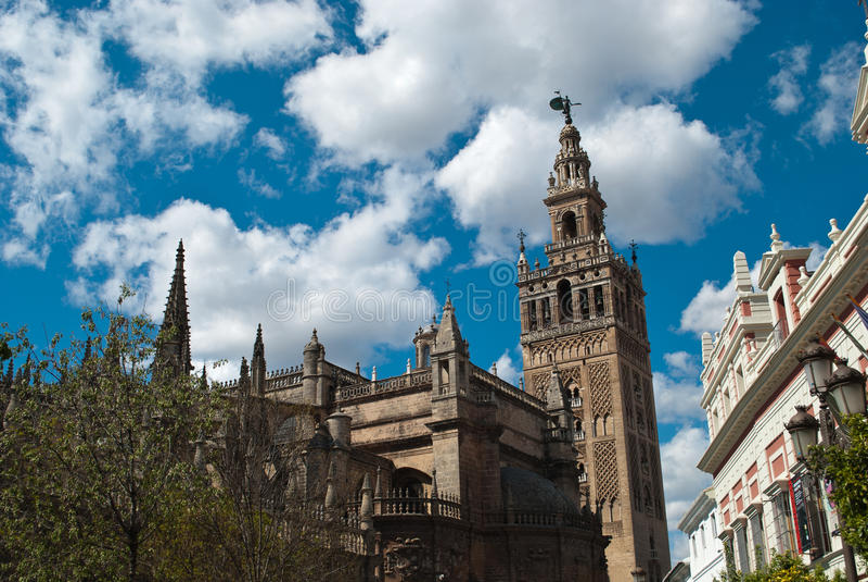 塞维利亚,西班牙大教堂  库存照片