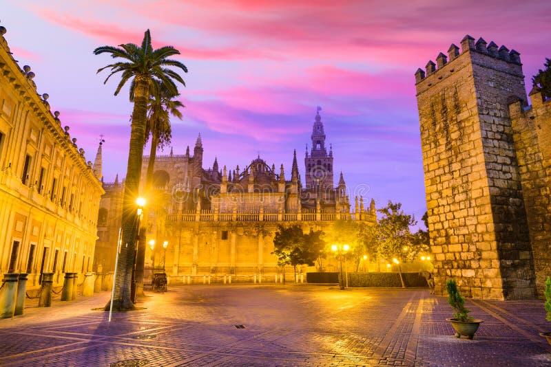 塞维利亚,西班牙广场 免版税库存图片