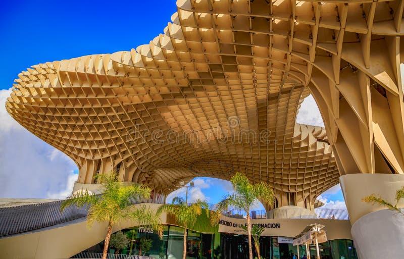 塞维利亚 西班牙,安大路西亚 metropol遮阳伞 免版税库存照片