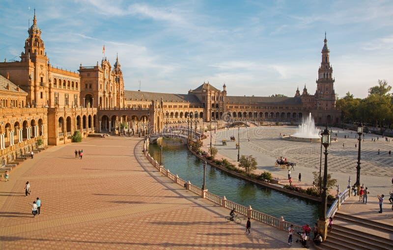 塞维利亚- Plaza de西班牙广场 免版税图库摄影