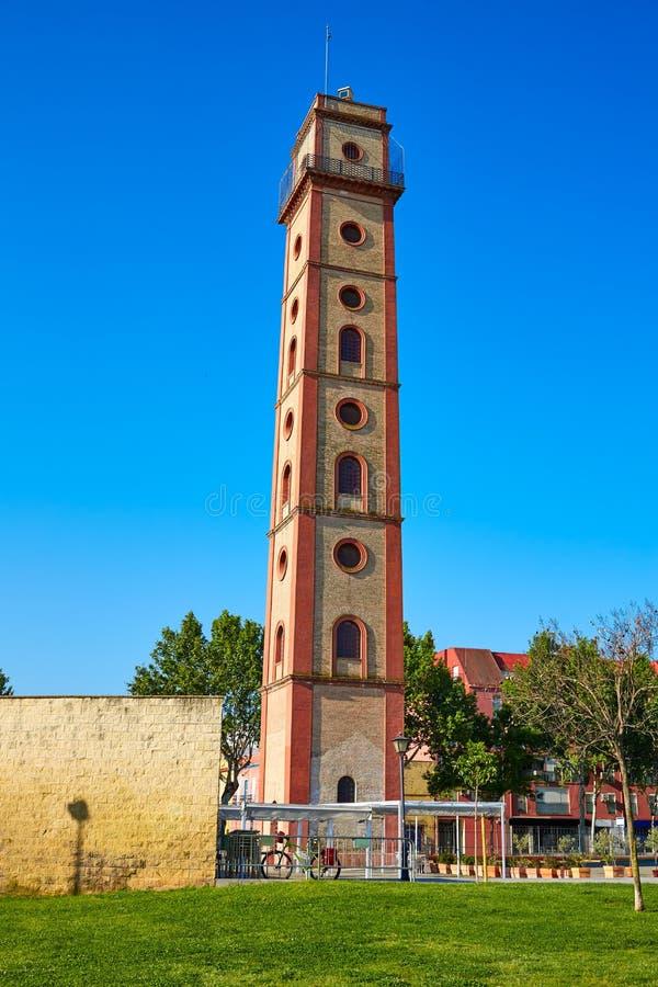 塞维利亚Torre de los Perdigones塔西班牙 库存照片