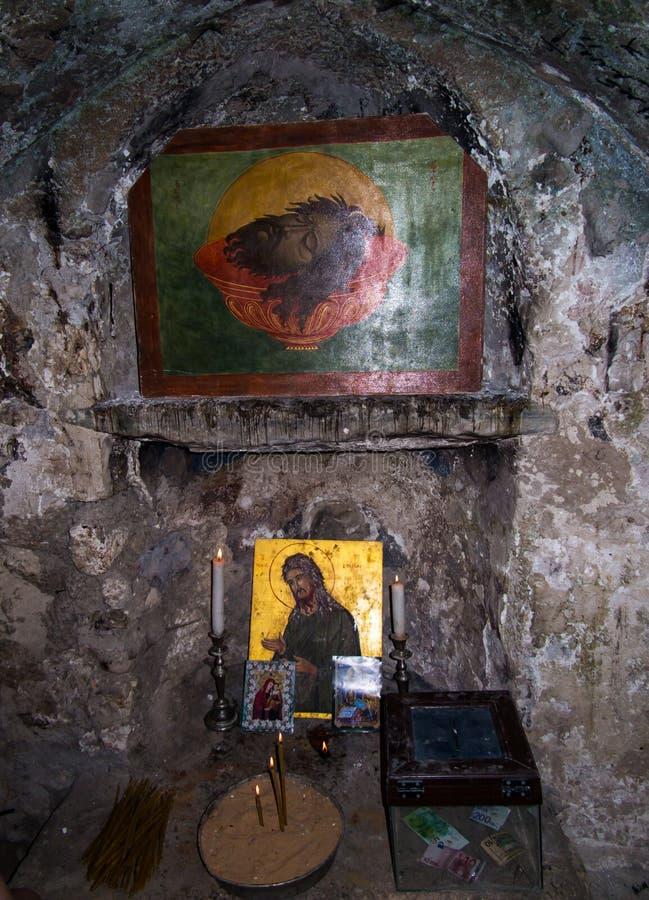 塞巴斯蒂安,以色列- 7月11 2015 r 第一个坟茔的传统地方 库存图片