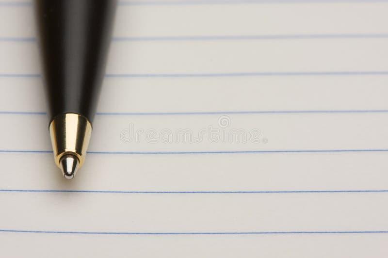 填充纸笔 免版税库存图片
