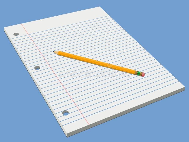 填充铅笔白色 皇族释放例证