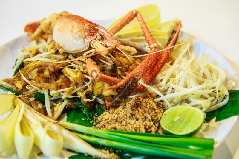 填塞泰国用油煎的河虾,泰国样式 免版税库存照片