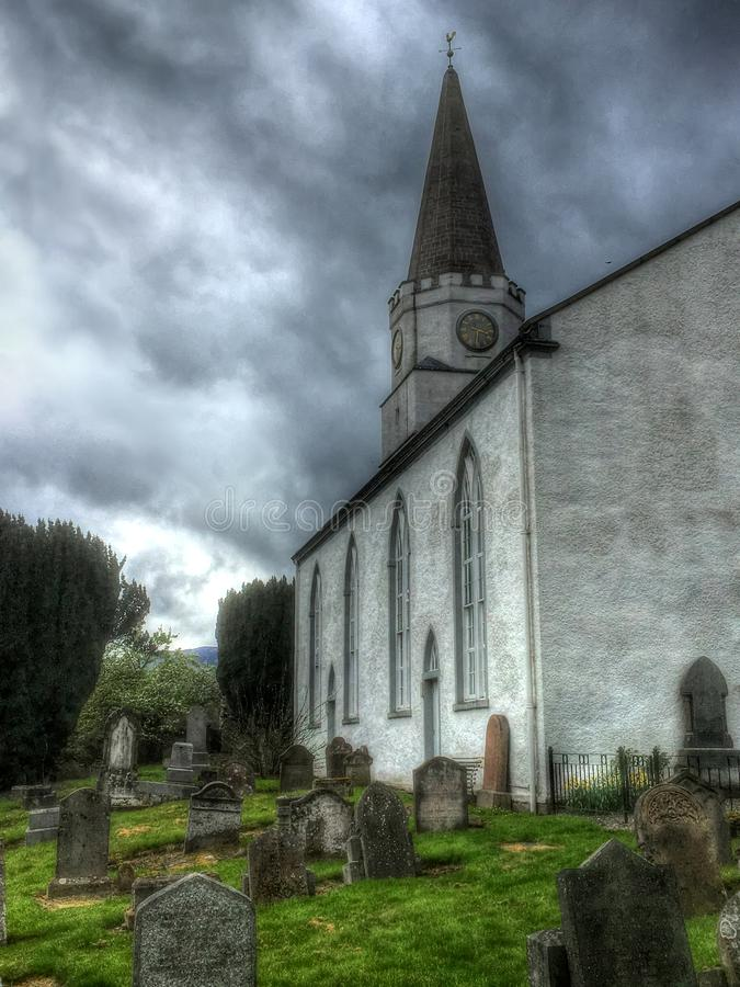 墓地和公墓Comrie村庄的  免版税图库摄影