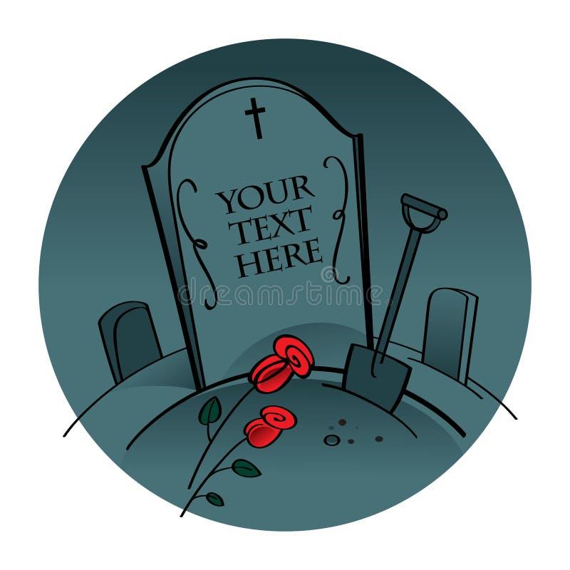 墓地坟园 库存例证