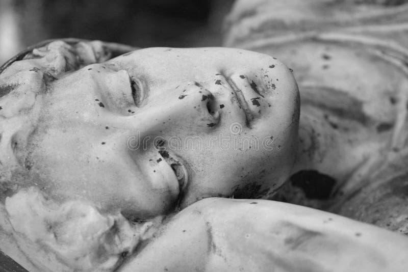 墓地我雕象 库存图片