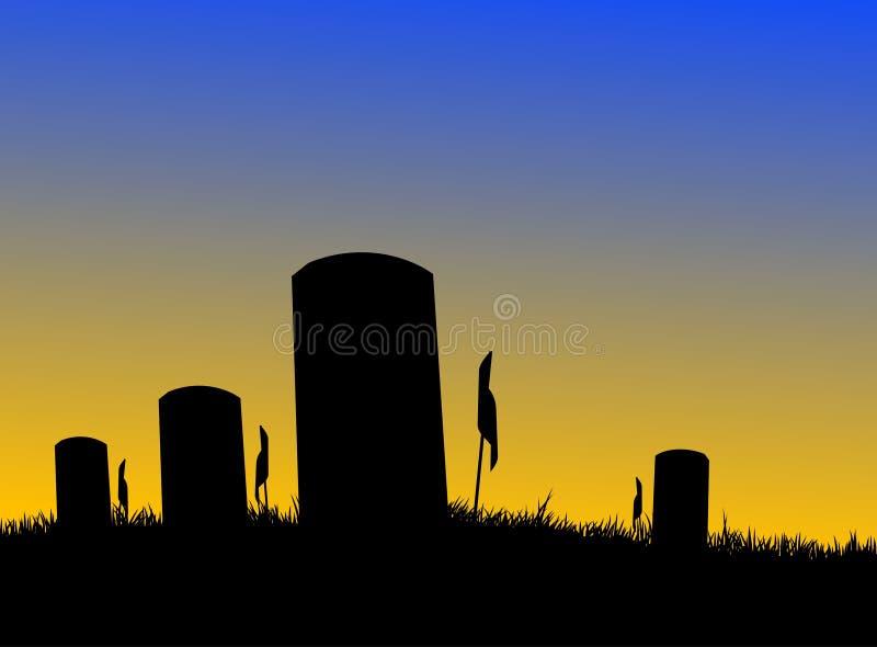 墓地战士 库存例证