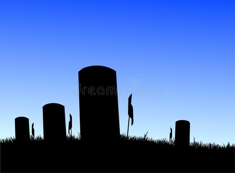 墓地战士 皇族释放例证
