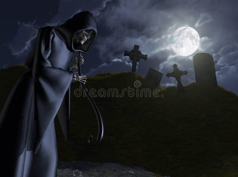 墓地死亡茎 向量例证