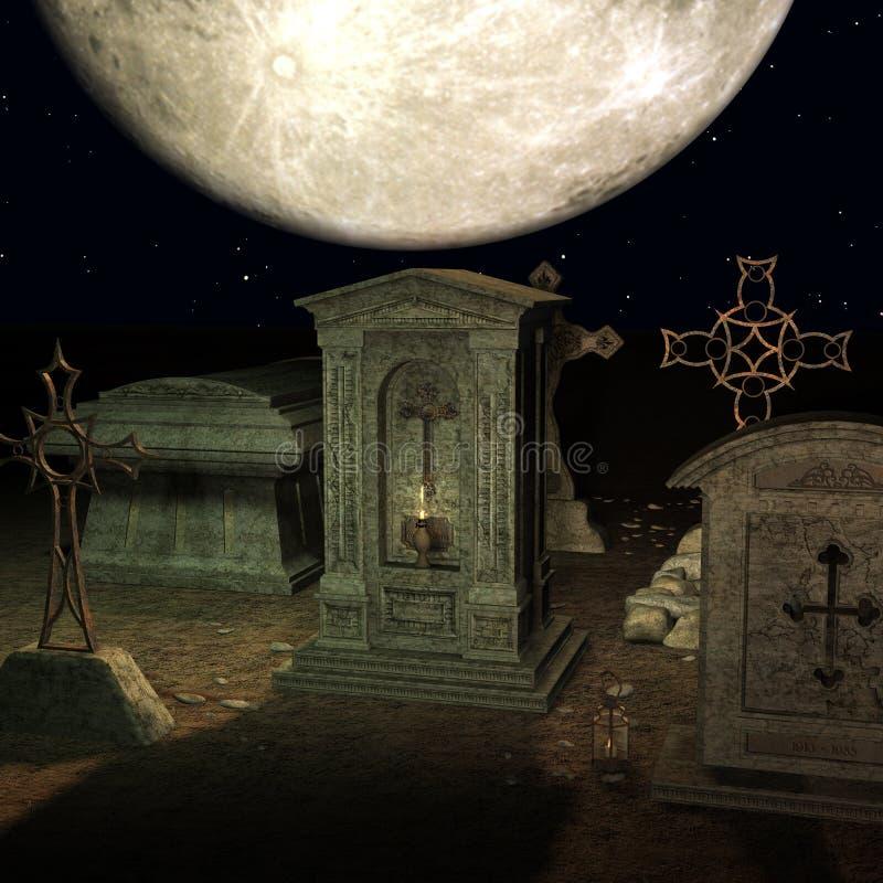 墓地神秘主义者 库存例证