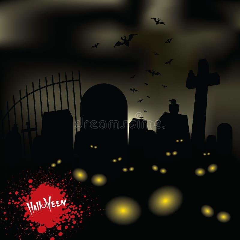 墓地黑暗 向量例证