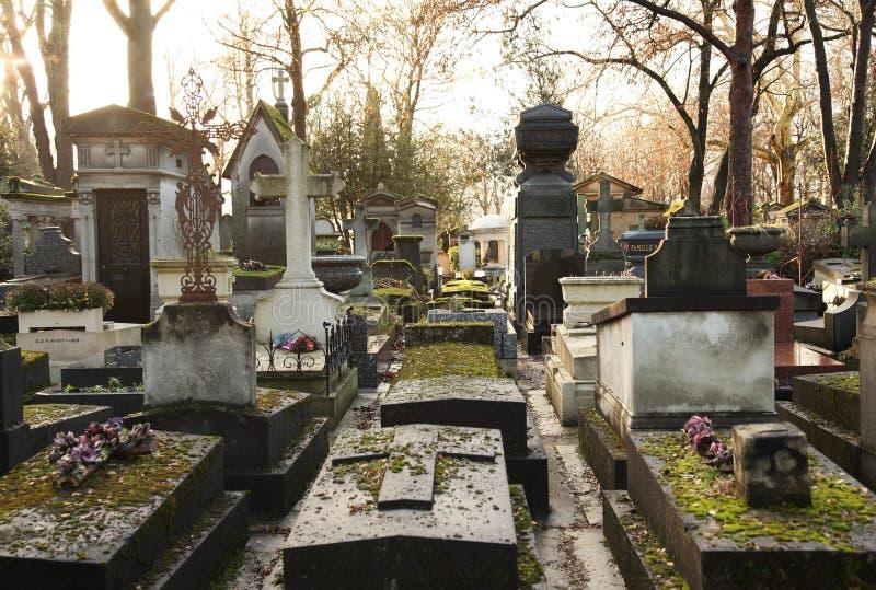 墓地lachaise pere 免版税库存照片