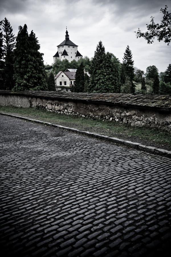 墓地lighttower 库存图片