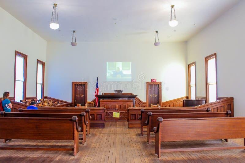 墓碑法院大楼国家公园-法庭 图库摄影