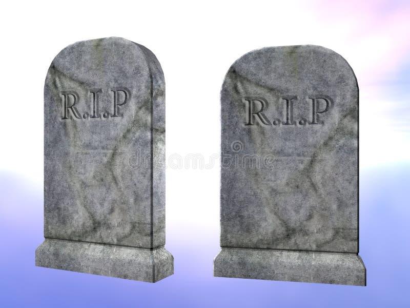 墓碑 库存例证