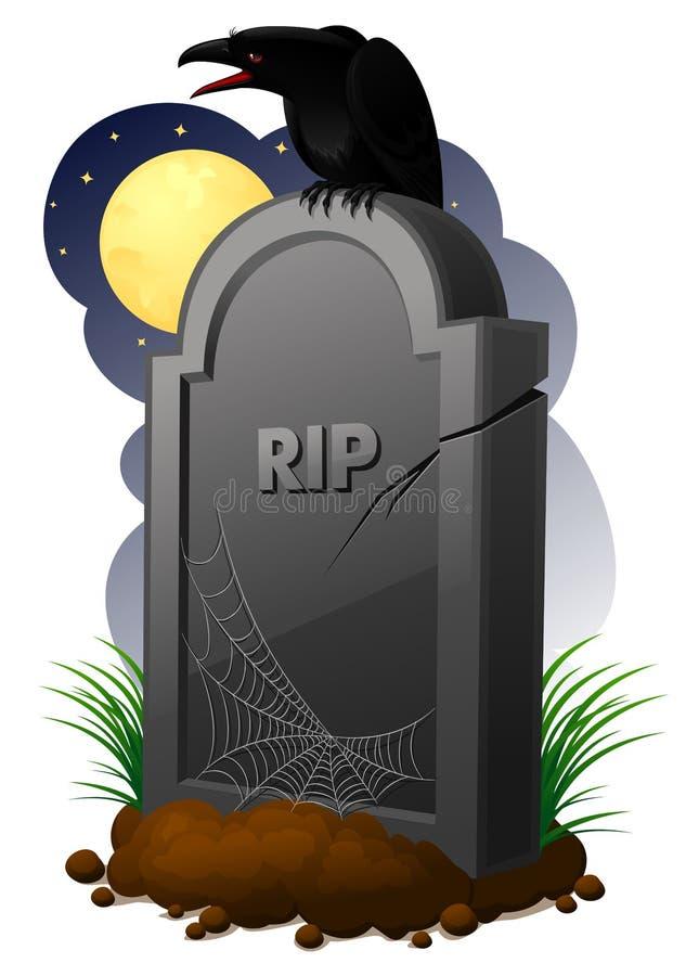 墓碑 向量例证