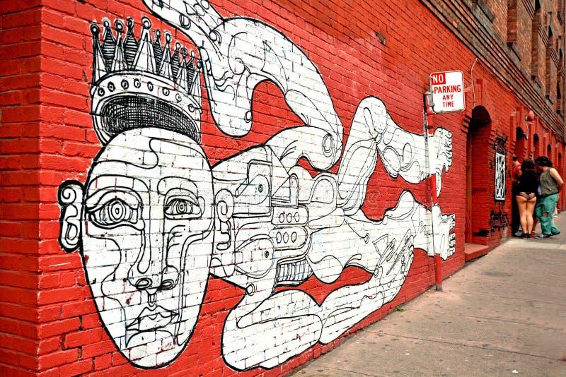 墙壁上的墙壁油漆在旧金山加利福尼亚 免版税库存图片
